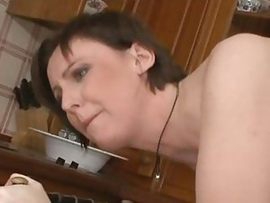 Hot sex in the kitchen video. Young girl with a funky pussy  has sex with a friend in the kitchen. Amateur sex in the kitchen