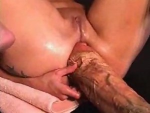 Dildo sex movies. Big Dildo in sweet pussy. Rude game with dildo.