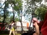 Park sex movies. Hard sex on a bench in the park. Girl suck a guy on the street in the park